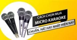 Cách chọn micro không dây tốt hát hay