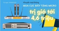 Chương trình khuyến mại tháng 9, Mua cục đẩy tặng Micro Dapro K-3000