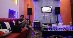 Lắp đặt phòng karaoke gia đình Anh Thành, Cát Quế, Hoài Đức, Hà Nội