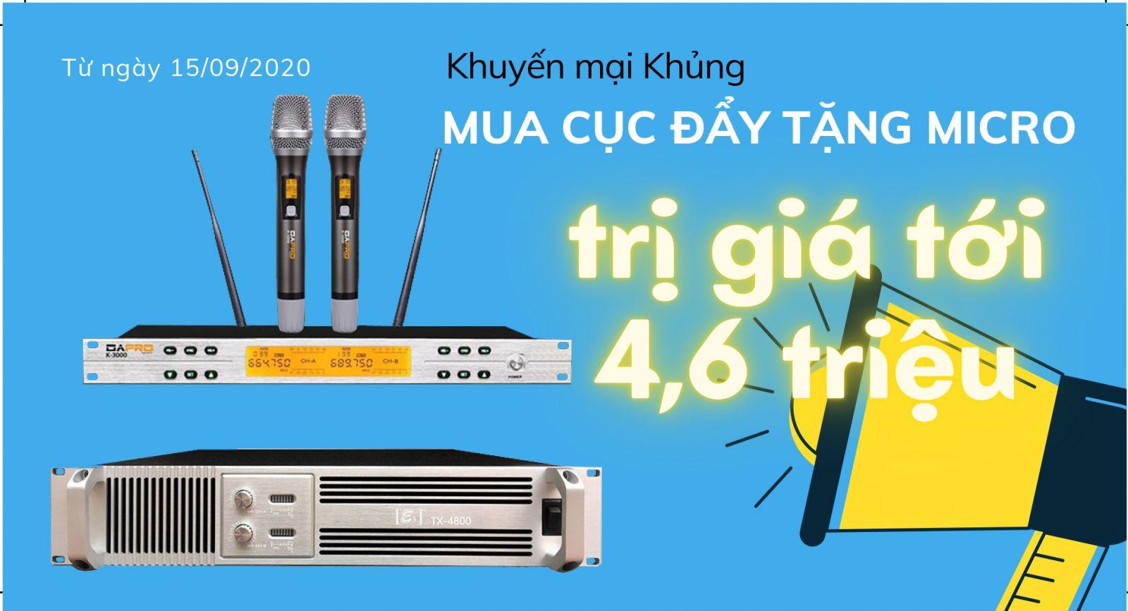 Cục đẩy 2 kênh karaoke TX-4800